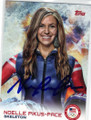 NOELLE PIKUS-PACE OLYMPIC SKELETON AUTOGRAPHED CARD #12314A