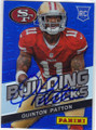 QUINTON PATTON SAN FRANCISCO 49ers AUTOGRAPHED ROOKIE FOOTBALL CARD #12314F