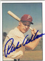 RICHIE ASHBURN PHILADELPHIA PHILLIES AUTOGRAPHED VINTAGE BASEBALL CARD #12514B
