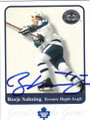 BORJE SALMING TORONTO MAPLE LEAFS AUTOGRAPHED HOCKEY CARD #12514J