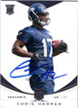 CHRIS HARPER SEATTLE SEAHAWKS AUTOGRAPHED ROOKIE FOOTBALL CARD #12514K