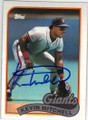KEVIN MITCHELL SAN FRANCISCO GIANTS AUTOGRAPHED VINTAGE BASEBALL CARD #12614C