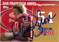 RANDY CROSS SAN FRANCISCO 49ers AUTOGRAPHED FOOTBALL CARD #12714E
