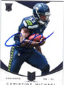 CHRISTINE MICHAEL SEATTLE SEAHAWKS AUTOGRAPHED ROOKIE FOOTBALL CARD #12714G
