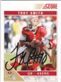 TROY SMITH SAN FRANCISCO 49ers AUTOGRAPHED FOOTBALL CARD #12714K
