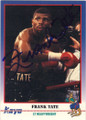 FRANK TATE AUTOGRAPHED BOXING CARD #12714O
