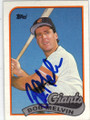 BOB MELVIN SAN FRANCISCO GIANTS AUTOGRAPHED VINTAGE BASEBALL CARD #12714P