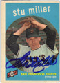 STU MILLER SAN FRANCISCO GIANTS AUTOGRAPHED VINTAGE BASEBALL CARD #12714T