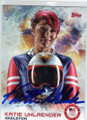 KATIE UHLAENDER AUTOGRAPHED OLYMPIC SKELETON CARD #12814D