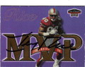 JERRY RICE SAN FRANCISCO 49ers AUTOGRAPHED FOOTBALL CARD #12814M