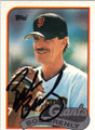 BOB BRENLY SAN FRANCISCO GIANTS AUTOGRAPHED BASEBALL CARD #12914N