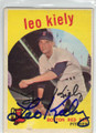 LEO KIELY BOSTON RED SOX AUTOGRAPHED VINTAGE BASEBALL CARD #13014E