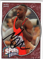 MICHAEL JOHNSON AUTOGRAPHED OLYMPIC TRACK & FIELD CARD #13014H