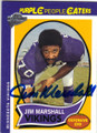 JIM MARSHALL MINNESOTA VIKINGS AUTOGRAPHED FOOTBALL CARD #20314J