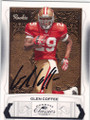 GLEN COFFEE SAN FRANCISCO 49ers AUTOGRAPHED & NUMBERED ROOKIE FOOTBALL CARD #20414A