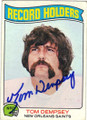 TOM DEMPSEY NEW ORLEANS SAINTS AUTOGRAPHED VINTAGE FOOTBALL CARD #20414B