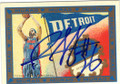 RASHEED WALLACE DETROIT PISTONS AUTOGRAPHED BASKETBALL CARD #20414H