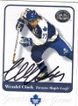 WENDEL CLARK TORONTO MAPLE LEAFS AUTOGRAPHED HOCKEY CARD #20414M