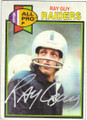RAY GUY OAKLAND RAIDERS AUTOGRAPHED VINTAGE FOOTBALL CARD #20714E