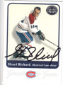 HENRI RICHARD MONTREAL CANADIENS AUTOGRAPHED HOCKEY CARD #20814B