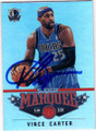 VINCE CARTER DALLAS MAVERICKS AUTOGRAPHED BASKETBALL CARD #20814F