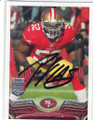 PATRICK WILLIS SAN FRANCISCO 49ers AUTOGRAPHED FOOTBALL CARD #20814J