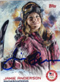 JAMIE ANDERSON AUTOGRAPHED OLYMPIC SNOWBOARDING CARD #21014B