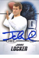 JAKE LOCKER WASHINGTON HUSKIES AUTOGRAPHED ROOKIE FOOTBALL CARD #21014K
