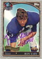 RON YARY MINNESOTA VIKINGS AUTOGRAPHED FOOTBALL CARD #21314A