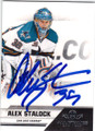 ALEX STALOCK SAN JOSE SHARKS AUTOGRAPHED HOCKEY CARD #21314C