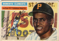 ROBERTO CLEMENTE PITTSBURGH PIRATES AUTOGRAPHED VINTAGE ROOKIE YEAR BASEBALL CARD #21414A