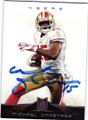 MICHAEL CRABTREE SAN FRANCISCO 49ers AUTOGRAPHED FOOTBALL CARD #21414B