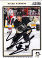 TYLER KENNEDY PITTSBURGH PENGUINS AUTOGRAPHED HOCKEY CARD #21614i