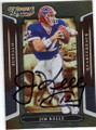 JIM KELLY BUFFALO BILLS AUTOGRAPHED FOOTBALL CARD #21714F