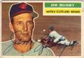 JIM BUSBY CLEVELAND INDIANS AUTOGRAPHED VINTAGE BASEBALL CARD #21714J