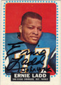 ERNIE LADD SAN DIEGO CHARGERS AUTOGRAPHED VINTAGE FOOTBALL CARD #21914B