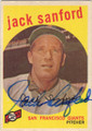 JACK SANFORD SAN FRANCISCO GIANTS AUTOGRAPHED VINTAGE BASEBALL CARD #22014C