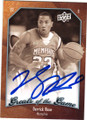 DERRICK ROSE UNIVERSITY OF MEMPHIS AUTOGRAPHED BASKETBALL CARD #22014H