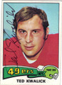 TED KWALICK SAN FRANCISCO 49ers AUTOGRAPHED VINTAGE FOOTBALL CARD #22114E