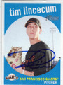 TIM LINCECUM SAN FRANCISCO GIANTS AUTOGRAPHED BASEBALL CARD #22114K