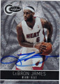 LeBRON JAMES MIAMI HEAT AUTOGRAPHED & NUMBERED BASKETBALL CARD #22114T