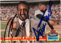 BARRY BONDS & WILLIE MAYS SAN FRANCISCO GIANTS DOUBLE AUTOGRAPHED BASEBALL CARD #22114U
