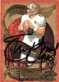 STEVE YOUNG SAN FRANCISCO 49ers AUTOGRAPHED FOOTBALL CARD #22214D