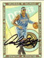 CARMELO ANTHONY DENVER NUGGETS AUTOGRAPHED BASKETBALL CARD #22214F