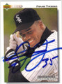 FRANK THOMAS CHICAGO WHITE SOX AUTOGRAPHED BASEBALL CARD #22214G