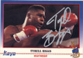 TYRELL BIGGS AUTOGRAPHED BOXING CARD #22314B
