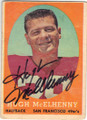 HUGH McELHENNY SAN FRANCISCO 49ers AUTOGRAPHED VINTAGE FOOTBALL CARD #22314C