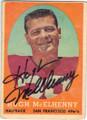 HUGH McELHENNY SAN FRANCISCO 49ers AUTOGRAPHED VINTAGE FOOTBALL CARD #22314C