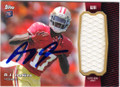 AJ JENKINS SAN FRANCISCO 49ers AUTOGRAPHED PIECE OF THE GAME ROOKIE FOOTBALL CARD #22314P