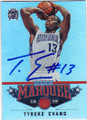 TYREKE EVANS SACRAMENTO KINGS AUTOGRAPHED BASKETBALL CARD #22414K